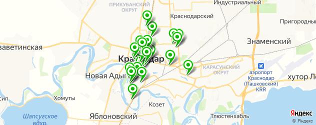 салоны красоты на карте Краснодара