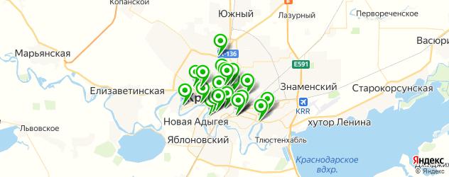 курсы на карте Краснодара