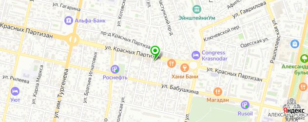 Срочный анализ крови на карте Аэродромной улицы