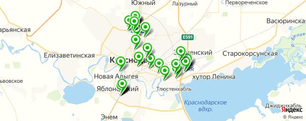автосервисы на карте Краснодара