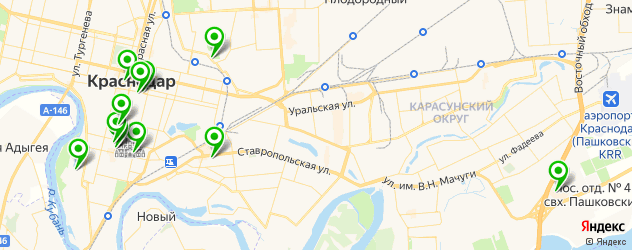 театры на карте Краснодара