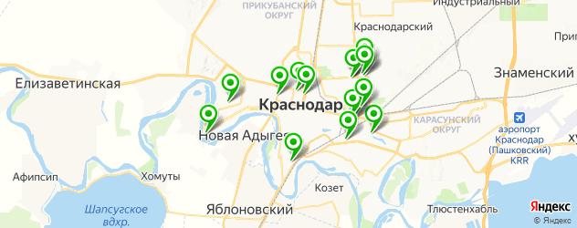 клиники пластической хирургии на карте Краснодара