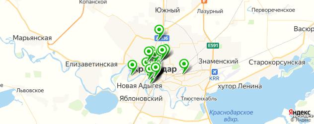 бары на карте Краснодара