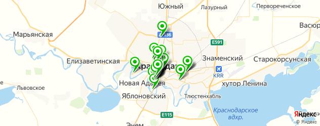кафе для поминок на карте Краснодара