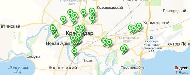 аптеки на карте Краснодара