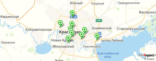 кинотеатры на карте Краснодара