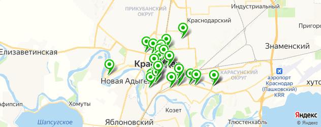 банки на карте Краснодара