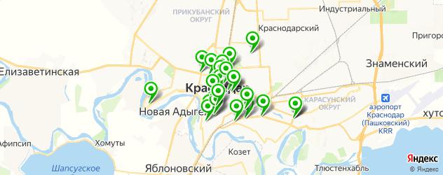 Финансы на карте Краснодара