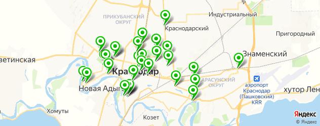 Доставка шашлыка на карте Краснодара