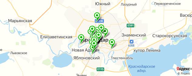 живая музыка на карте Краснодара