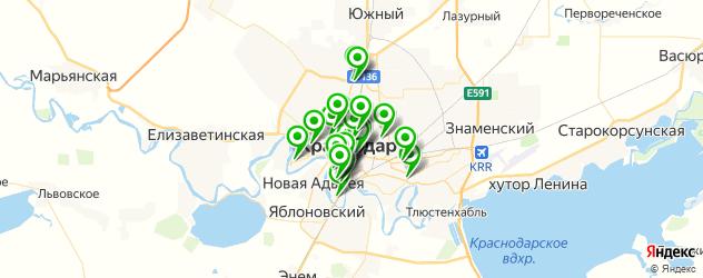 рестораны с живой музыкой на карте Краснодара