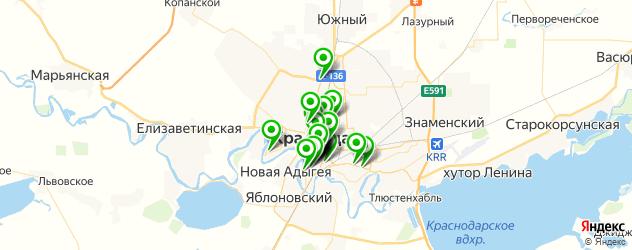 банкетные залы на карте Краснодара