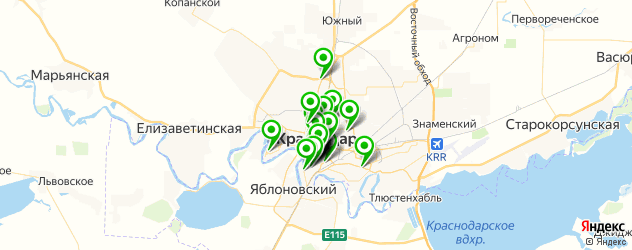 банкетные залы для корпоратива на карте Краснодара
