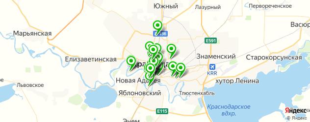 Доставка еды на карте Краснодара