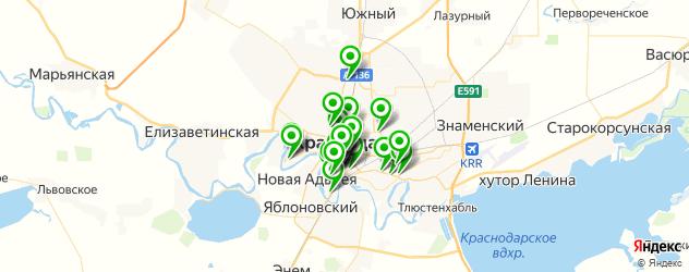 доставка на карте Краснодара