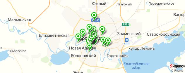 Доставка обедов на карте Краснодара