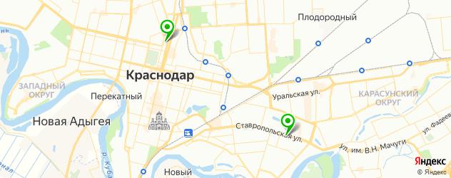 банкоматы с евро на карте Краснодара