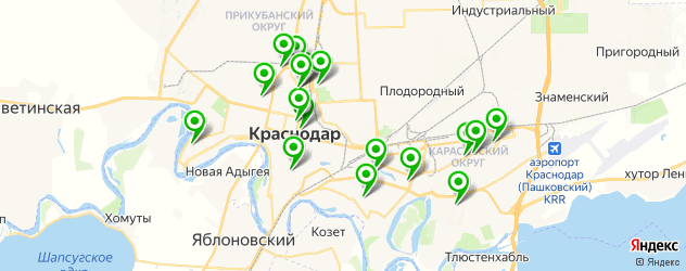 гимназии на карте Краснодара