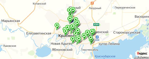 магазины автоаксессуаров на карте Краснодара