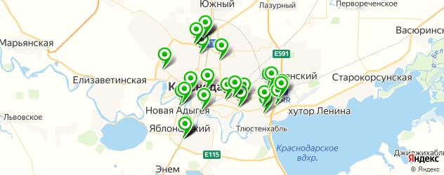Авто на карте Краснодара