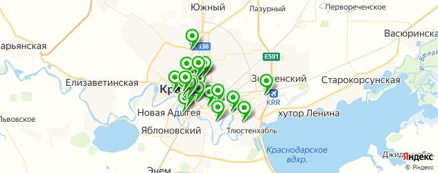академии на карте Краснодара