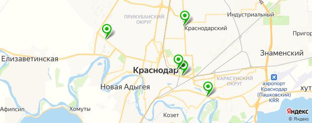 покраска суппортов на карте Краснодара