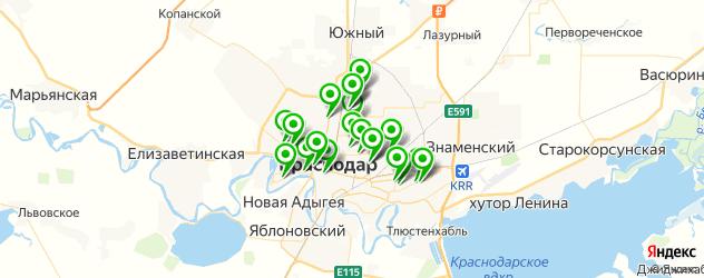 аренды инструмента на карте Краснодара