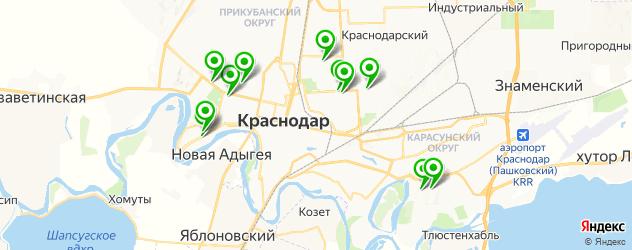 Анализ крови на дому на карте Краснодара