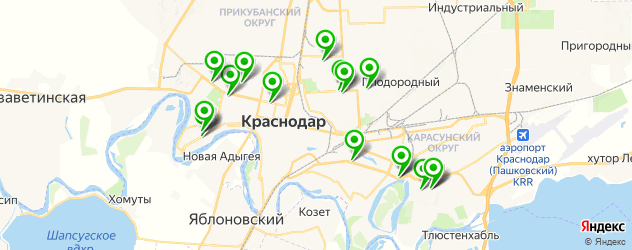 анализы ПЦР на карте Краснодара