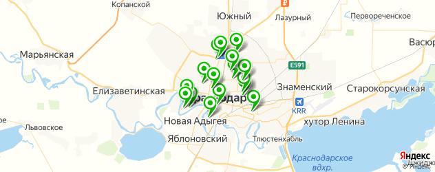 фитнесы с бассейном на карте Краснодара