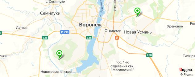 конные клубы на карте Воронежа