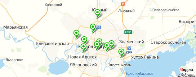 ремонт авто в рассрочку на карте Краснодара