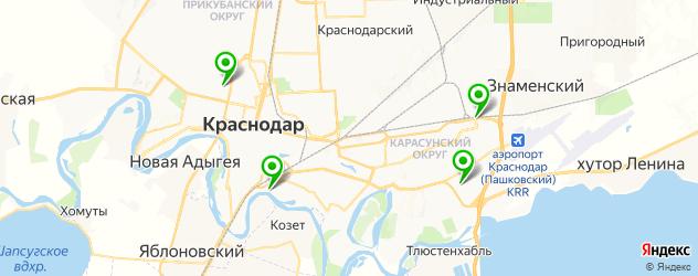 авторынки на карте Краснодара