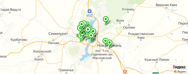 Доставка пиццы на карте Воронежа
