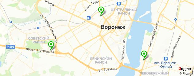 мужской макияж на карте Воронежа