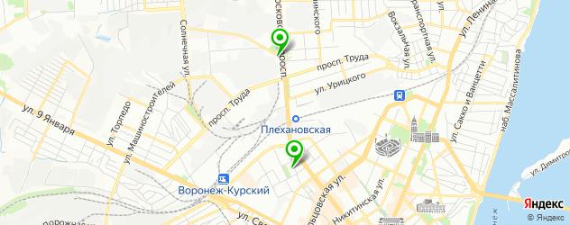 постижерные мастерские на карте Воронежа