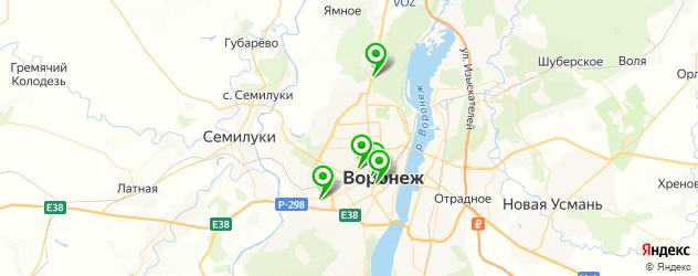 теннисные корты на карте Воронежа