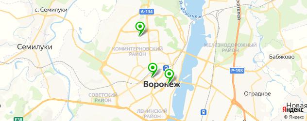 детские больницы на карте Воронежа