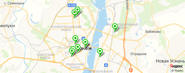 центры эстетической медицины на карте Воронежа