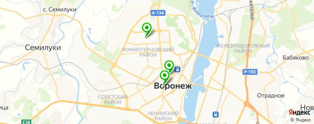 ледовые дворцы на карте Воронежа
