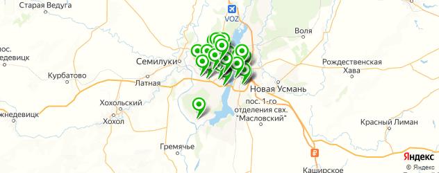 изготовления ключей на карте Воронежа