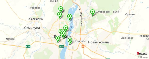рестораны с детской комнатой на карте Воронежа