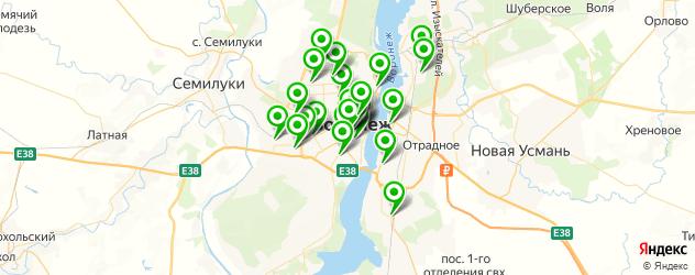 кондитерские на карте Воронежа