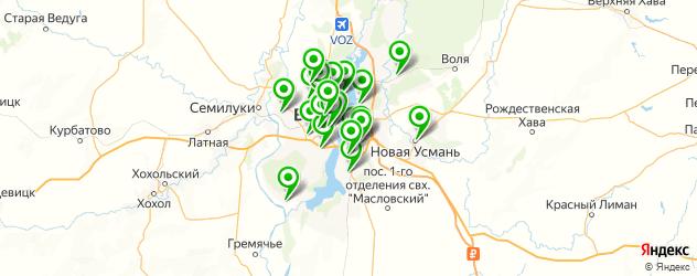 художественные школы на карте Воронежа