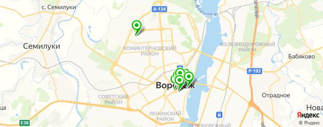 театры на карте Воронежа