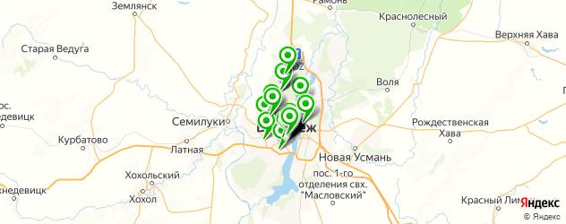 рестораны с живой музыкой на карте Воронежа