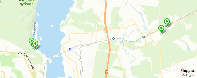 санатории на карте Воронежа