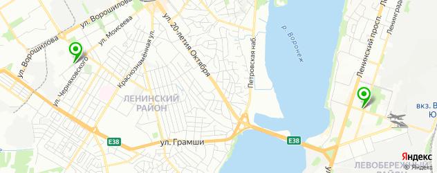 макаруны на карте Воронежа