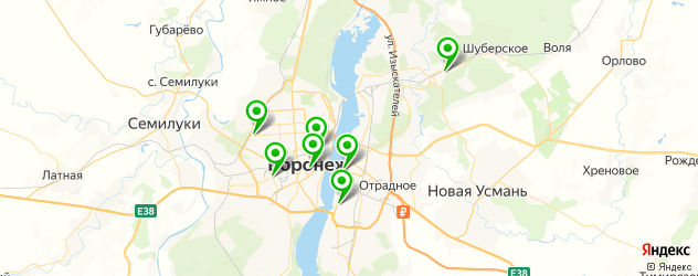 пирожки на карте Воронежа