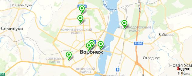 фитнесы с бассейном на карте Воронежа
